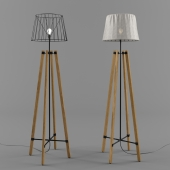 Торшер Wood Wire Floor Lamp
