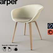 Стул DUNA02 4wood legs - Collection Duna 02