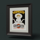 Picture in a beautiful frame Vermouth Martini