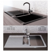 Modern sink made of stainless steel