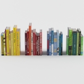 Set of books in different color proportions