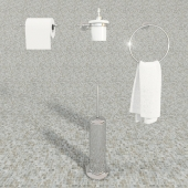 Toilet accessories set