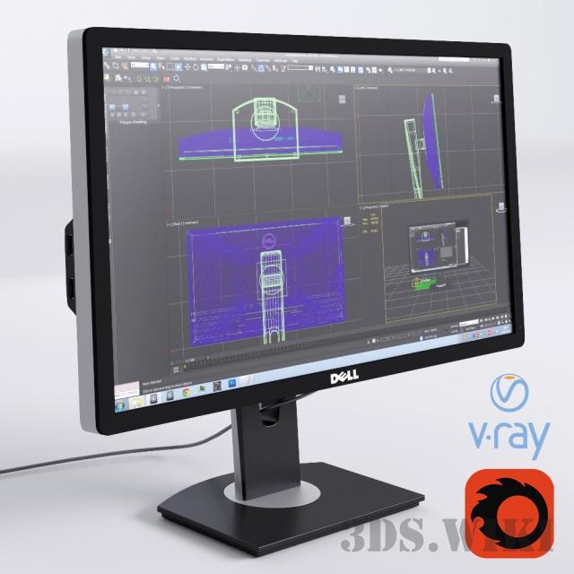 Монитор Dell Ultrasharp U2412M - скачать 3d модел | 3ds wiki