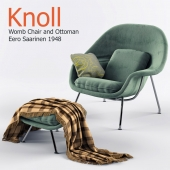 Стол Womb Chair Knoll с оттоманкой