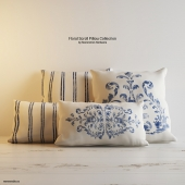 Подушки RH FLORAL SCROLL PILLOW COLLECTION