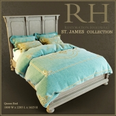 Кровать Queen ST. James Collection - Restoration Hardware