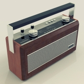 Roberts R900 Teak and Leather Radio