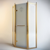 Shower enclosure Cezares Retro P-1