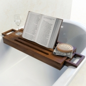 Stand shelf for books in the bathroom