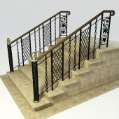 Forged staircase in Russian style