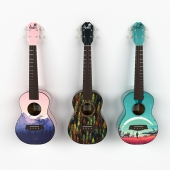 Decorative Ukulele set