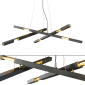 Modern Matt Black Chandelier