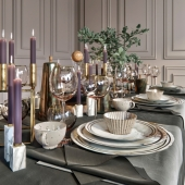 Table setting. - Dishes