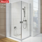 Corner showers Ravak Chrome