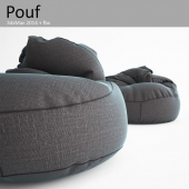 Collection of modern poufs