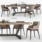 Planer table, Magda armchair Cattelan Italia