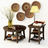 Tables and decor by Pottery Barn