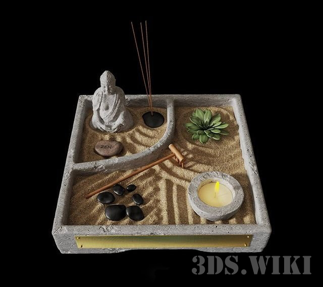 Zen table garden