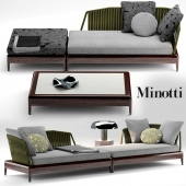 Sofa Indiana by Minotti