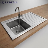 Modern sink and faucet by Ledeme