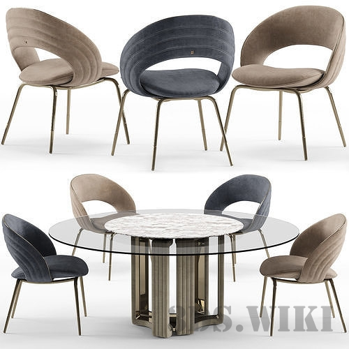 Visionnaire Kylo chair and table
