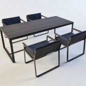Table and chair Banco Flat by Mario Ruiz