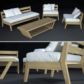 OUTDOOR FURNITURE with sofa Madera