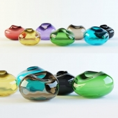 Pebbles vases by Kate Hume