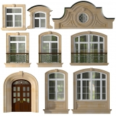 Windows and doors of modern classics style