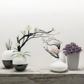 Five decorative vases