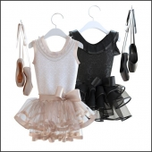 Pointe shoes with dress