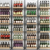 Set-370 (Wooden shelving with bottles)