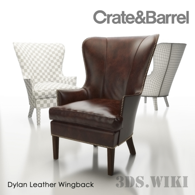 Chair_Barrel Dylan Leather Wingback