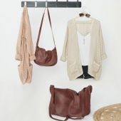 Set with leather bags