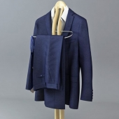 Blue men's suit