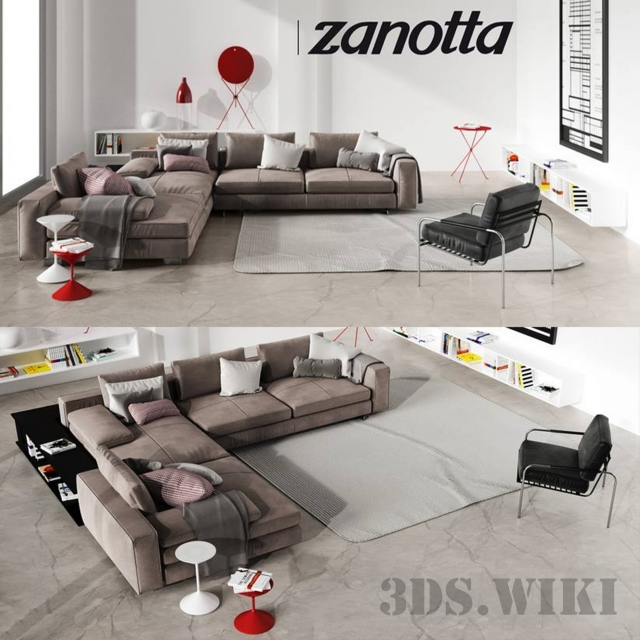 Sofa Scott, Susanna armchair by Zanotta