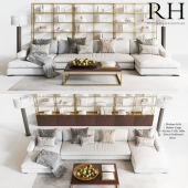 Restoration Hardware Modern sofa and table