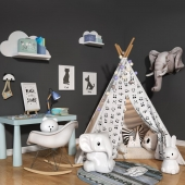 Children set with wigwam