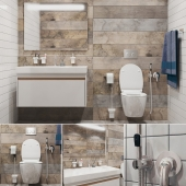 Bathroom set with Ideal Standard toilet