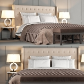 Classic bed Jarrow Buttons by Dantone Home