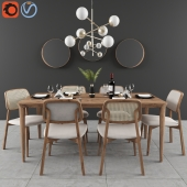 Dining set Lider with mirror ESPELHO LIP
