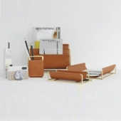 Faux Leather Brass accessories by West Elm