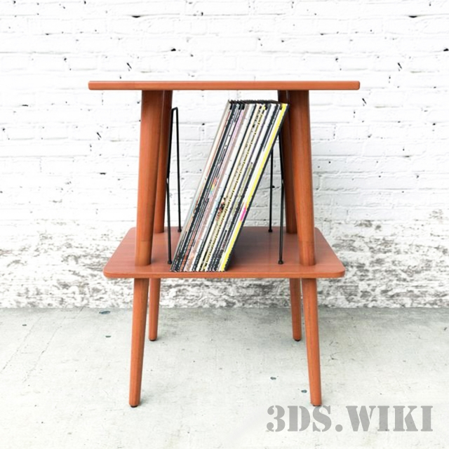 Manchester media table by Crosley