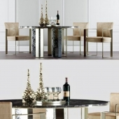 Dinning Set by Fendi Casa 3D Model