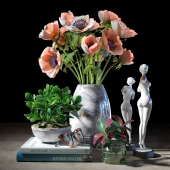 Decorative set with sculptures 3d model