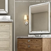 Single vanity sink Maison by Restoration Hardware