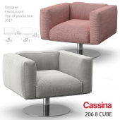 Cassina 206 8 Cube armchair