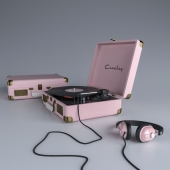 Pink Crosley Cruiser Turntable Vinyl Portable Record Player