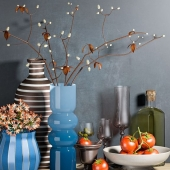 Ethnic set with vases and tomatos