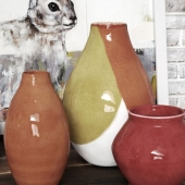 Crate&Barrel vases and pictures